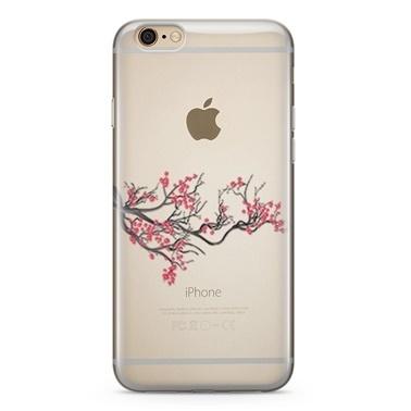 Lopard Apple iPhone 6 6s Kılıf Kiraz Çiçeği Kapak Renkli
